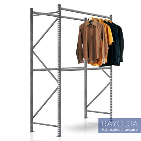 Rayonnage magasin 2 Niveaux et penderie