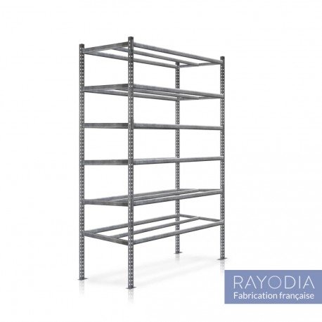 Rayonnage tubulaire grand format 6 niveaux